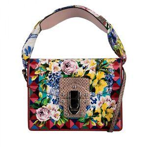 DOLCE & GABBANA Snake Leather Majolica Shoulder Bag LUCIA w. Foulard Beige 09513