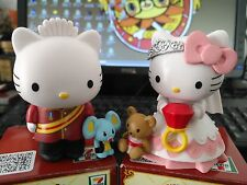 2pcs 3'' Hello kitty wed Anime action figure PVC Toys wedding cake decoration
