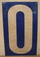 Large Vintage Plastic Sign Numbers Gas Pricing Sign Numbers Plexiglas Sheet