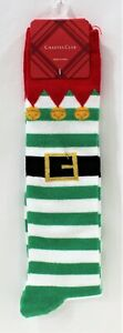 Charter Club Elf Sock Calf Length Fun Footwear Stocking Women Size 9-11