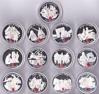 2004 2005 Silver Proof Poppy Gibraltar £5 Battles of WW2 Gibraltar Coins