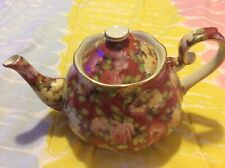 Teapot Rose Design Pattern by  'A Special Place' 2004 Pink Yellow Roses Floral