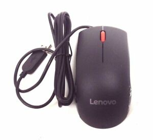 Lenovo 00PH128 USB Wired Optical Mouse Black - Brand New