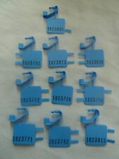 New Blue Coin Box Seals set of 10 Payphone Payphones Vending Machines At&T Seal