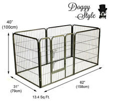 DOGGY STYLE 6 SIDED HEAVY DUTY PUPPY PLAY PEN WHELPING DOG CAGE FENCE DS-HD03L