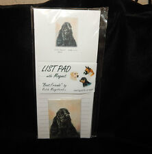 """BEST FRIENDS"" BY RUTH MAYSTEAD LIST PAD & MAGNET~75 SHEETS COCKER SPANIEL~NEW"