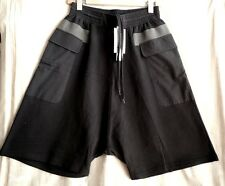 SILENT by DAMIR DOMA BLACK PORRIMA SWEAT SHORTS SIZE M