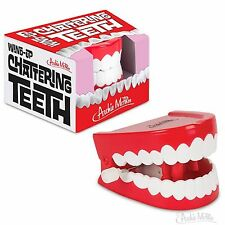 Wind-Up Chattering Teeth - Novelty Fun Gag Gift