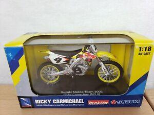 2006 NEW RAY 1/18 RICKY CARMICHAEL MAKITA #4 Suzuki Item #67207