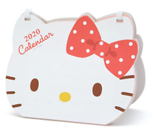 Sanrio Hello Kitty Face Type Desk Top Calendar 2020 Ring type NEW JAPAN F/S