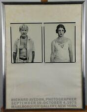 Vintage 1975 Richard Avedon Singed NYC Gallery Poster Willem De Kooning Rare