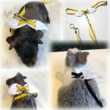 Adjustable Rabbit Ferret Guinea pig Angel Wings Harness Leash Light Soft Fashion