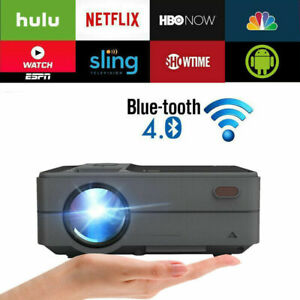 Tragbare Intelligente Android 6.0 WiFi Projector Blue-Tooth Heimkino Video HDMI