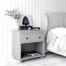 Bedside Table Nightstand Hamptons - Solid wood