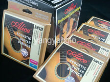 12 Sets of Alice AW432P-L Acoustic Guitar Strings Hexagonal Core Coated Copper