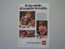 advertising Pubblicità 1982 LEGO