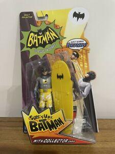 2013 MATTEL BATMAN 1966 TV SERIES SURF'S UP BATMAN FIGURE WITH COLLECTOR CARD.