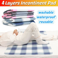 Washable Waterproof Incontinence Bed Pee Pad Elderly tress Protector Sof