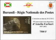 1937 Disappearance of AMELIA EARHART Stamp Sheet #2 (2012 Burundi)
