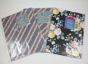 Lot American Greetings Forget-Me-Not Birthday & All Occasion Wrapping Paper NEW