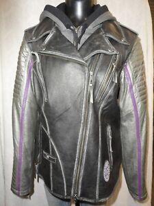 Harley Davidson Women's Speedy 3-in-1 Leather Biker Jacket