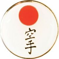Japanese Flag with Karate Martial Arts Pin