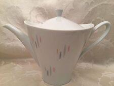 "Hutschenreuther TeaPot 7"" Mid Century Modern Germany Ceramic White Vintage"