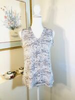 Violet & Claire Womens Sleeveless Shirt Top Size S Abstract Print Gray Black