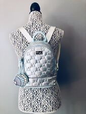 💋Luv Betsey Johnson LBJaz Holographic Star Marine Backpack W/Seashell Charm