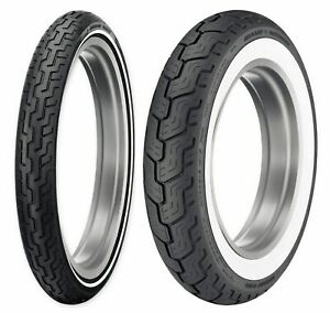 Dunlop Harley-Davidson D402 White Wall MH9021 & MT90B16 Tires FXST/FXDWG/XL1200C