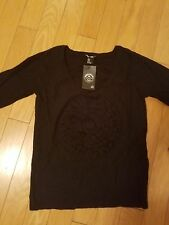 NWT Sonia Rykiel for H&M black sweater with flower size M