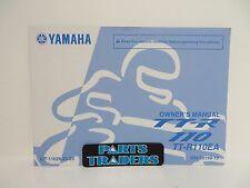 Genuine Yamaha Owners Manual TT-R110 TTR110 2011 11 LIT-11626-24-23