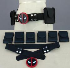 Vestido De Fiesta Disfraz Deadpool Accesorios Superhéroe Disfraz Elaborado De Cuero Cinturón Nuevo