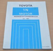 Toyota Starlet 1N 1987 NP70 Serie Motor Werkstatthandbuch Reparaturanleitung