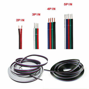 1-100m 2/3/4/5 Pin Extension Connector Wire Cable Cord For 3528/5050 LED Strip