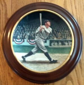 1993 BRADFORD EXCHANGE LTD ED COLLECTOR'S PLATE-BABE RUTH-IN CIRCULAR FRAME