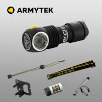Armytek Elf C1 XP-L Warmweiß LED Stirnlampe Aufladbar USB Taschenlampe + Akku