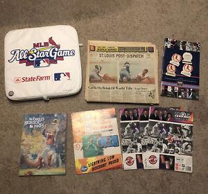Vintage St Louis Cardinals 70s 80s 90s Memorabilia Lot Programs Newspaper