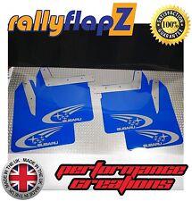 ANTERIORE SUBARU IMPREZA NEW AGE (01-07) RallyflapZ 4mm PVC Swoosh blu in Argento