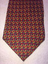 """FLYING SCOTSMAN MENS TIE RED BLUE GOLD 4"""" X 59"""""""