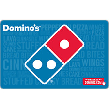Domino's Pizza Gift Card $50 Value, Only $44.50! Free Shipping!