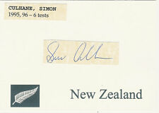 Simon Culhane Nz All Black Signed Rugby Card
