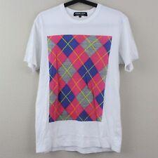 Comme Des Garcons Homme Deux Mens Small White Graphic Short Sleeve T-Shirt K97