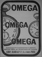 PUBLICITÉ DE PRESSE 1905 MONTRES OMEGA DE PRÉCISION KIRBY BEARD -- ADVERTISING
