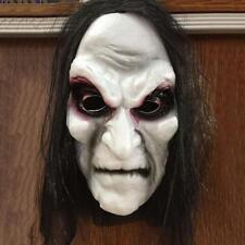 Funny Ghost Halloween Scary Mask Horrible Zombie Black Hair Bleeding Ghost Mask