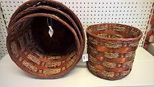 Portavaso Porta Vasi Cachepot Cache Pot Fioriera Cesta Bamboo Bambù set 4 pezzi