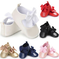 Toddler Baby Girl Princess Soft Crib Shoes Leather Moccasins Anti-slip Prewalker