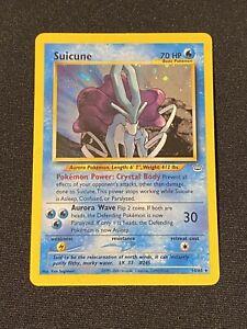 Suicune Neo Revelation Set Rare Holo 14/64 2001 Pokemon Card