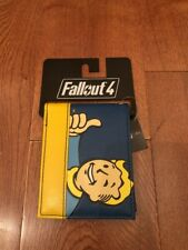 Fallout Vault Boy Blue/Yellow Bifold Leather Wallet Men New Collectible