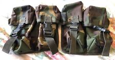 British Army Issued Webtex Double Ammo Pouches x 2 ~ Great Condition!!!